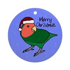 Santa Peachfaced Lovebird Ornament