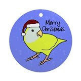 Santa Whiteface Lovebird Ornament