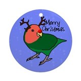 Reindeer Peachfaced Lovebird Ornament