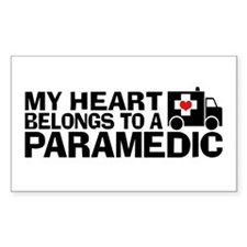 My Heart Belongs To A Paramedic Decal
