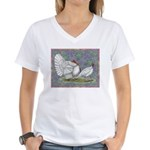 White Holland Turkeys Women's V-Neck T-Shirt