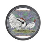White Holland Turkeys Wall Clock