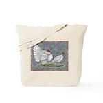 White Holland Turkeys Tote Bag