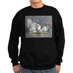 White Holland Turkeys Sweatshirt (dark)