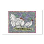 White Holland Turkeys Sticker (Rectangle 50 pk)
