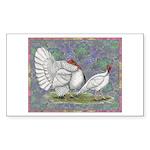 White Holland Turkeys Sticker (Rectangle 10 pk)