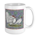White Holland Turkeys Large Mug
