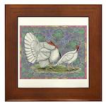 White Holland Turkeys Framed Tile