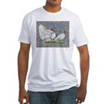 White Holland Turkeys Fitted T-Shirt