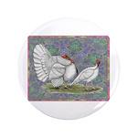 """White Holland Turkeys 3.5"""" Button (100 pack)"""