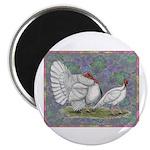 """White Holland Turkeys 2.25"""" Magnet (100 pack)"""