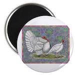 """White Holland Turkeys 2.25"""" Magnet (10 pack)"""
