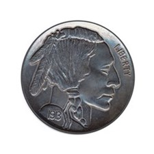 "The Indian Head Nickel 3.5"" Button"
