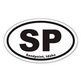 Sandpoint SP Euro Oval Decal