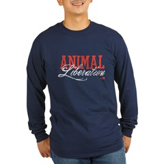 Animal Liberation Long Sleeve Dark T-Shirt