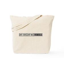 Anti-State, Anti-War, Pro-Mar Tote Bag