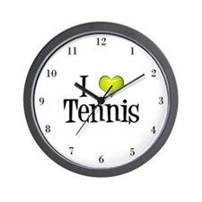 I Heart Tennis Wall Clock