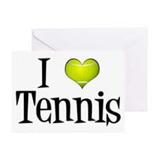 I Heart Tennis Greeting Cards (Pk of 10)