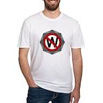 Ornate Slash Through W Fitted T-Shirt
