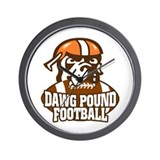 Dawg Pound Fans Wall Clock