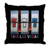 Viva Las Vegas 777 Throw Pillow