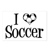 I Heart Soccer Postcards (Package of 8)