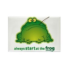 Funny Orchestra Strings Frog Rectangle Magnet