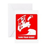 SAND TRAP Cards & Bags Greeting Card