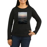 Fire Island Sunset on Women's Long-Slv -T