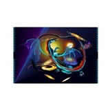 Blue Galaxy Dragon Rectangle Magnet (100 pack)