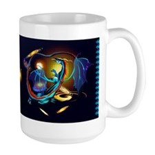 Blue Galaxy Dragon Mug