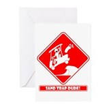 SAND TRAP DANGER Cards & Bags Greeting Cards (Pk o