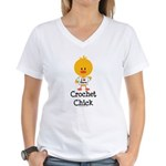 Crochet Chick Women's V-Neck T-Shirt