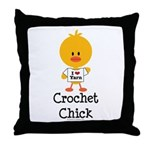 Crochet Chick Throw Pillow