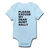Please excuse my dear aunt sa Infant Bodysuit