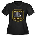 Newburyport Police Women's Plus Size V-Neck Dark T