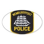 Newburyport Police Sticker (Oval 50 pk)