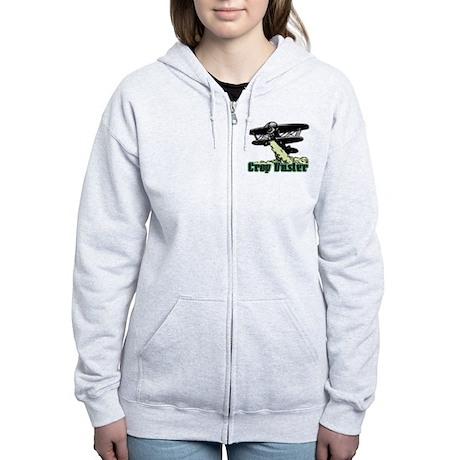 Crop Duster Women's Zip Hoodie