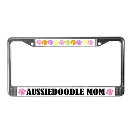 Aussiedoodle Mom License Frame
