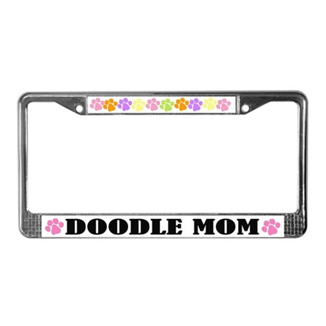 Doodle Mom License Frame