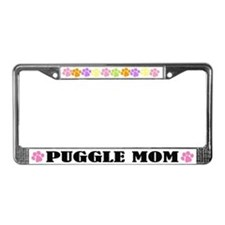 Puggle Mom License Frame