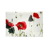 Rectangle Poppies Magnet
