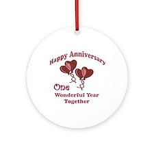 Funny 1st wedding anniversary Ornament (Round)
