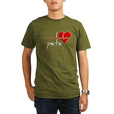 I Heart Pete Organic Men's T-Shirt (dark)