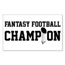 Fantasy Football Champion w/ Trophy Decal