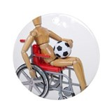 Soccer Wheelchair Ornament (Round)