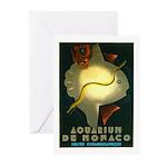 Aquarium De Monaco Fish Greeting Cards (Pk of 10)