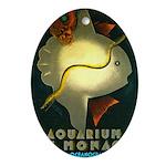 Aquarium De Monaco Fish Ornament (Oval)