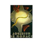 Aquarium De Monaco Fish Rectangle Magnet
