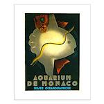Aquarium De Monaco Fish Small Poster